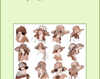 1924 Millinery Book Make Flapper Roaring 20s Childrens Hats Making DIY Milliner
