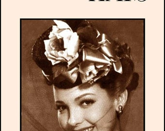 1952 Millinery Book Hat Making Make Hats Restyle Lowrie Milliner Guide Retro DIY Lessons