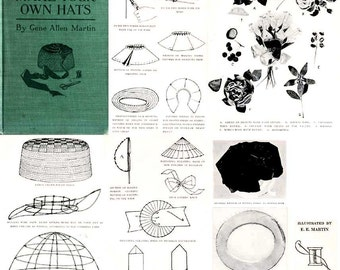 Millinery Lessons Hat Making MARTIN CD Hats Book