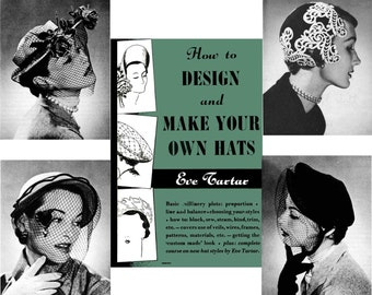 MILLINERY Hat Making Design make Hats TARTAR Book