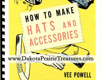 Vintage WWII Swing Era Millinery Hat Glove Bag Making Patterns Spiral Bound Book POWELL Make Hats