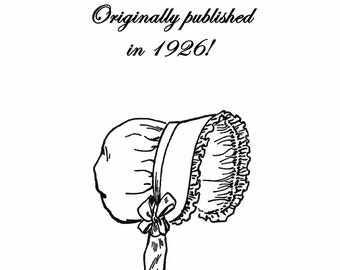 1926 Millinery Book Flapper Roaring 20s Infant Child Hat Bonnet DIY Milliner Caps Prohibition Guide