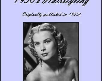 1955 Hairstyles Book Illustrated 50s Hair Styles How to Do 1950s Hair-dos DIY Beautician Guide