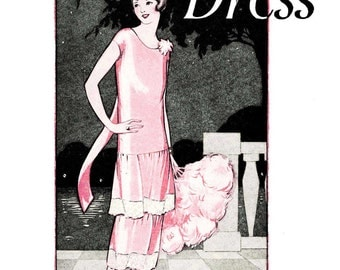 1920s Make a FLAPPER DRESS in 1 Hour 1925 Frocks Roaring 20w Glamor Fashions DIY Reenactor Seamstress Guide