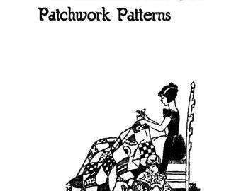 1931 Antique Quilt Patchwork Pattern Book Dirty 30s Depression Era 101 Class Classic Patterns