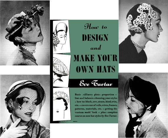MILLINERY Hat Making Design make Hats TARTAR Book