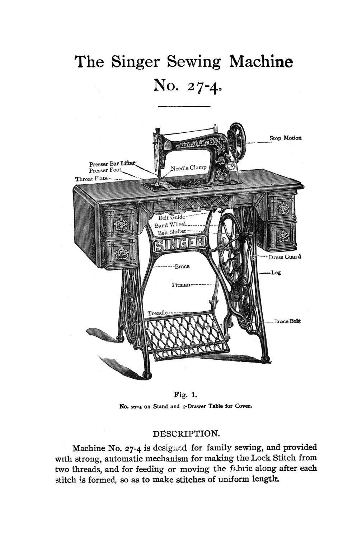 singer vintage sewing machine parts