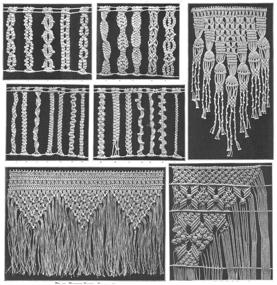 Macrame Book Patterns Designs Instruction Titanic Era Lace