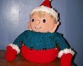 Christmas Crochet pattern, Elf Toilet Paper Cover