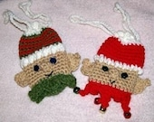 Christmas Crochet Pattern, Santa Helpers gift pouches
