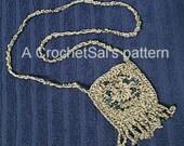 Crochet Pattern, Southwest Beaded Amulet Bag