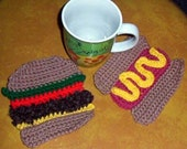 Crochet Pattern, Barbecue Time coasters
