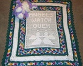 Crochet Pattern, Angels Watch Over baby afghan