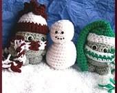 Crochet Pattern, Snowkids Winter Set