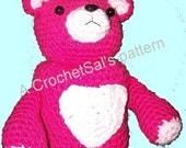 Crochet Pattern, Teddy Bear Toilet Paper Cover, Heart