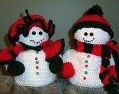 Crochet Pattern, Mr and Mrs Snowman