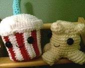 Amigurumi Movie Theatre Duo, crochet e-pattern, Popcorn and Soda