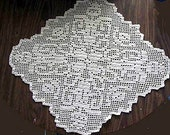 crochet e-pattern, Harvest Filet Doily
