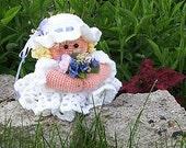 E-pattern, crochet Bride Toilet tissue cover