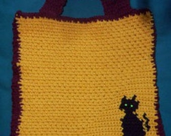 Halloween Crochet Pattern, Halloween Tote