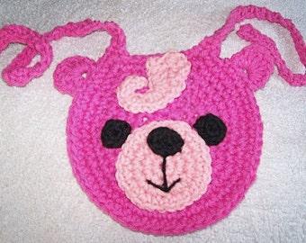 Crochet Pattern, Baby Bear Baby Bib