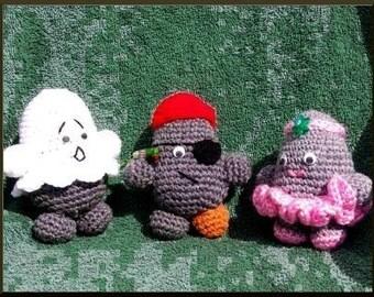 Crochet Pattern, Rock People Halloween, part 2