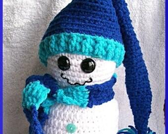 Crochet Snowman Pattern, A Warm Glow in my Belly