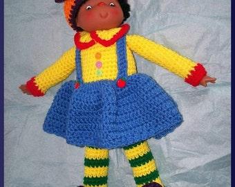 Crochet Pattern PDF, Felicia Doll