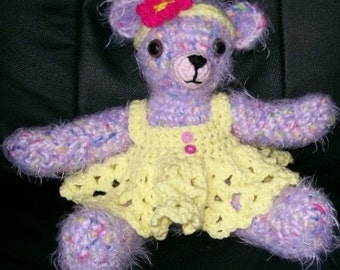 Crochet pattern, Janny-bear, Teddy Bear, PDF Instant Download