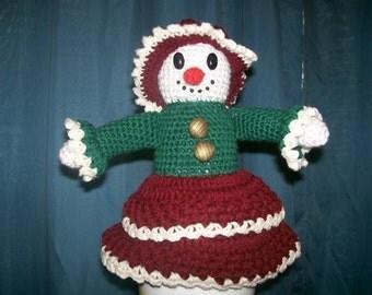 Crochet e-pattern, Best Dressed Snow Girl
