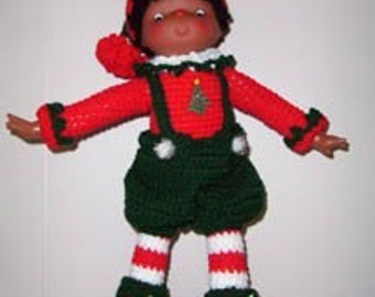 Christmas Elf Doll Crochet Pattern, Hollivy the Elf Instant Download