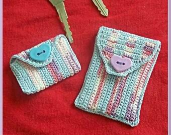 Crochet Pattern, Gift Card Holder Set