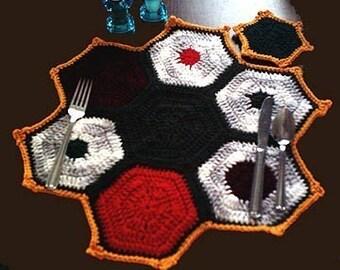 Christmas Hexagon Placemat Set Crochet pattern