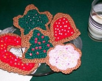 Crochet Pattern, Christmas Sugar Cookies