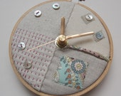 Pastel Patches Mini Wall Clock