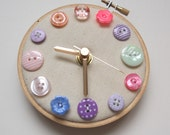 Pastel Flowers Mini Wall Clock