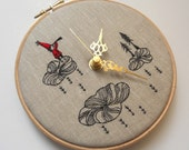 Embroidered Linen Folk Tale Wall Clock - Limited Collaboration Series - 2 of 4