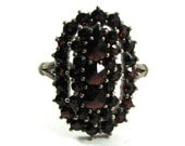 ON HOLD FOR M - SALE- Marked down 20 Percent - A STUNNING Bohemian Garnet Ring - BIG and BOLD - Circa 1910