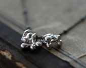Sterling Silver Bramble Necklace Dotted Oxidized Chain Metalwork Silversmith Organic Handmade Jewelry - ShopClementine