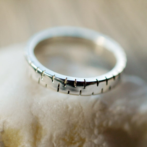 Silver Sawtooth Ring, Men's Wedding Ring, Wedding Band for Him, Rugged Ring, Authentic Style, Sterling Silver Ring, Handmade Jewelry