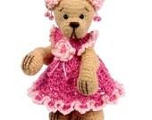 Miniature Thread Crochet Bear Pattern - Chloe - PDF Download