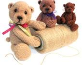 Miniature Thread Crochet Bear Pattern 2 - PDF Download