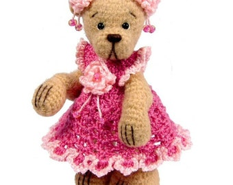Miniature Thread Crochet Bear Pattern - Chloe - PDF Download
