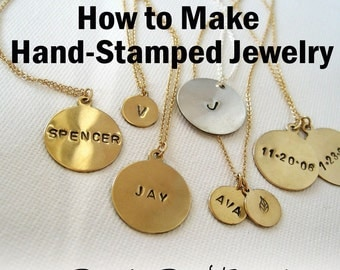 How to Make Hand Stamped Jewelry - Ebook Tutorial PDF
