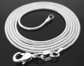 20 inch .925 sterling silver 1mm snake chain necklace Perfect for my pendants smooth shiny round lobster clasp basic