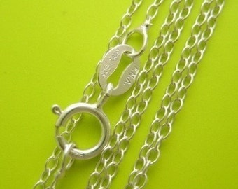 18 inch .925 sterling silver lightweight link chain necklace Perfect for my pendants delicate simple dainty