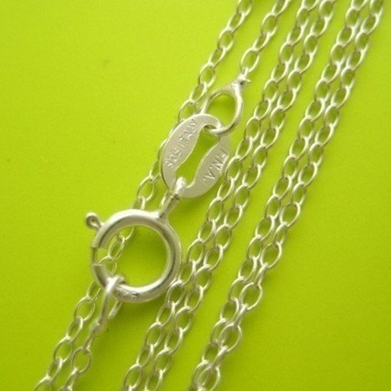 18 x .925 sterling silver lightweight link chain necklace Perfect for my pendants