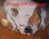 Pet Portrait Gift Certificate - Last Minute Christmas Gift made easy from Pet Portrait Artist Robin Zebley, Any Dog, Cat or small animal