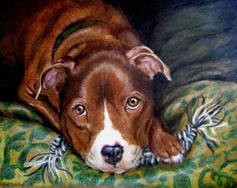 Custom Pet Portrait, Custom Dog Portrait Artist, Custom Portrait Art