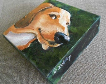 Tiny Custom Pet Portrait Oil Painting, Dachshund, Golden Retriever Painting or any breed by me, Custom Dog Portrait